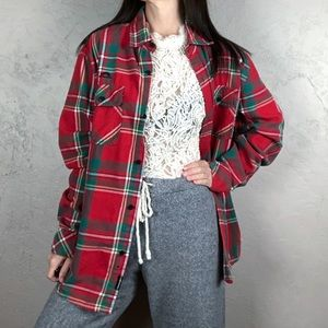 Vintage Oversized Plaid Flannel Shacket